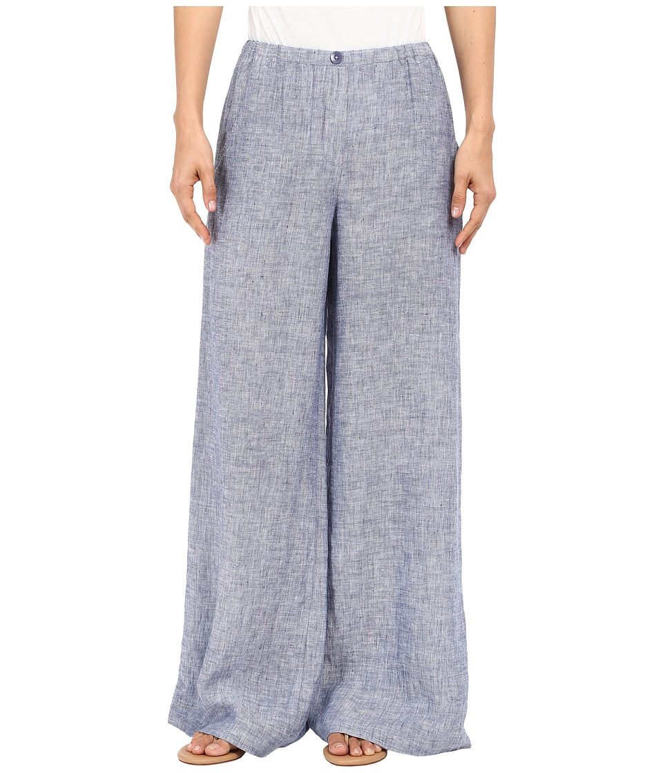 NIC+ZOE - Drify Linen Pants (Indigo Mix) Women's Casual Pants