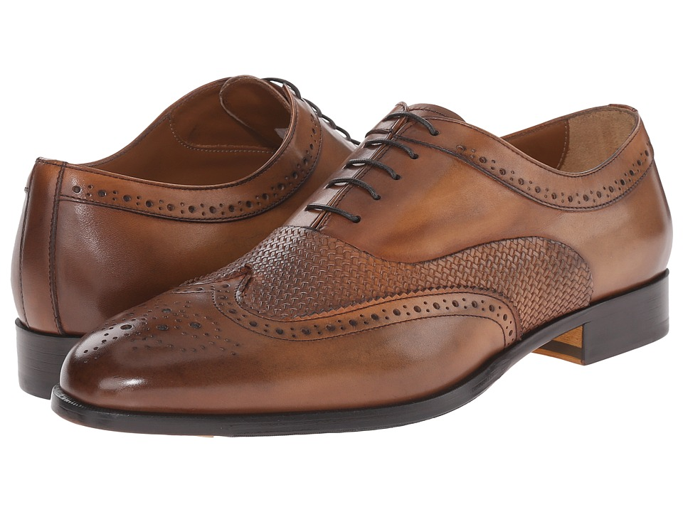 Doucal's - Pietro 1046UF6E Radica (Zafferano) Men's Lace Up Wing Tip Shoes