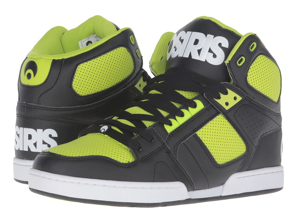 Osiris - NYC83 (Black/White/Lime) Men's Skate Shoes