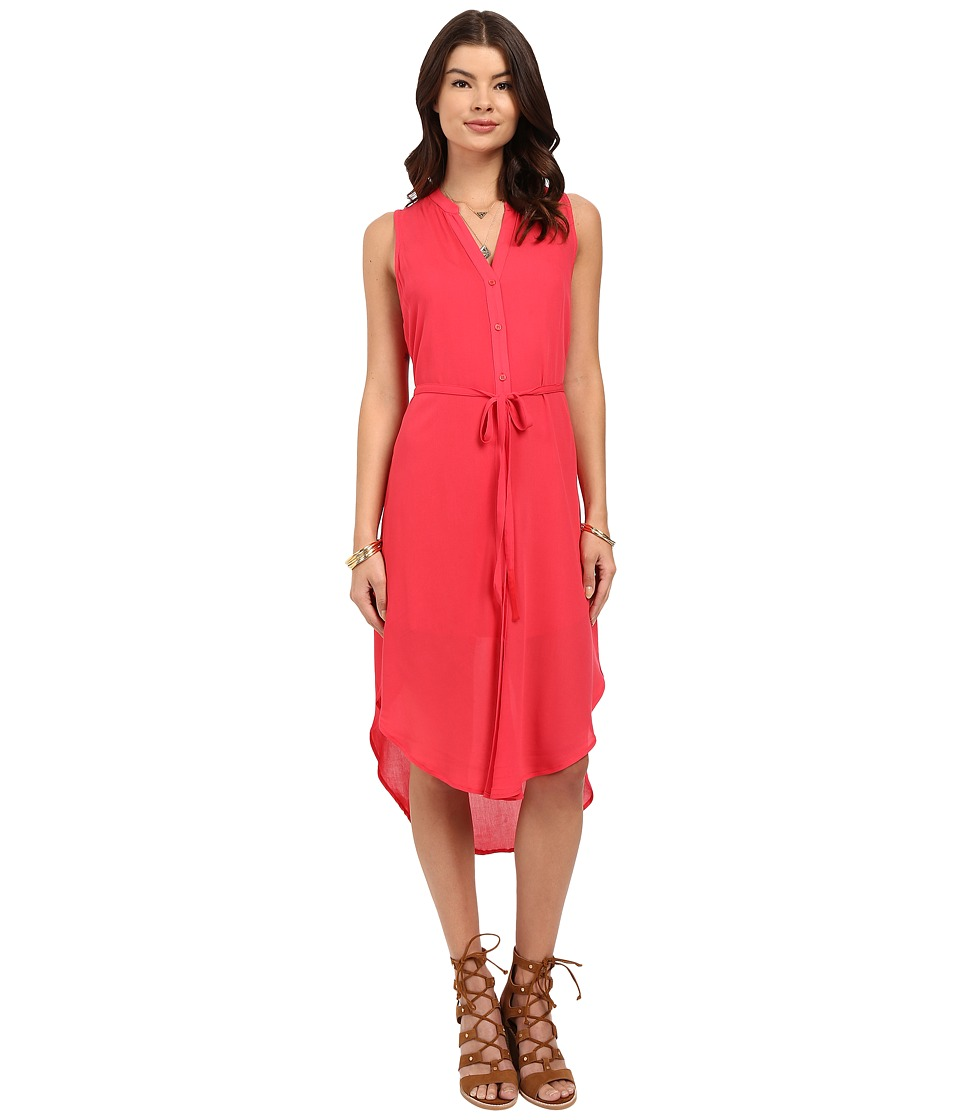 BB Dakota Alesha Viscose Button Front Shift Dress (Glow) Women