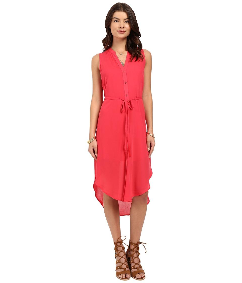 Image of BB Dakota - Alesha Viscose Button Front Shift Dress (Glow) Women's Dress