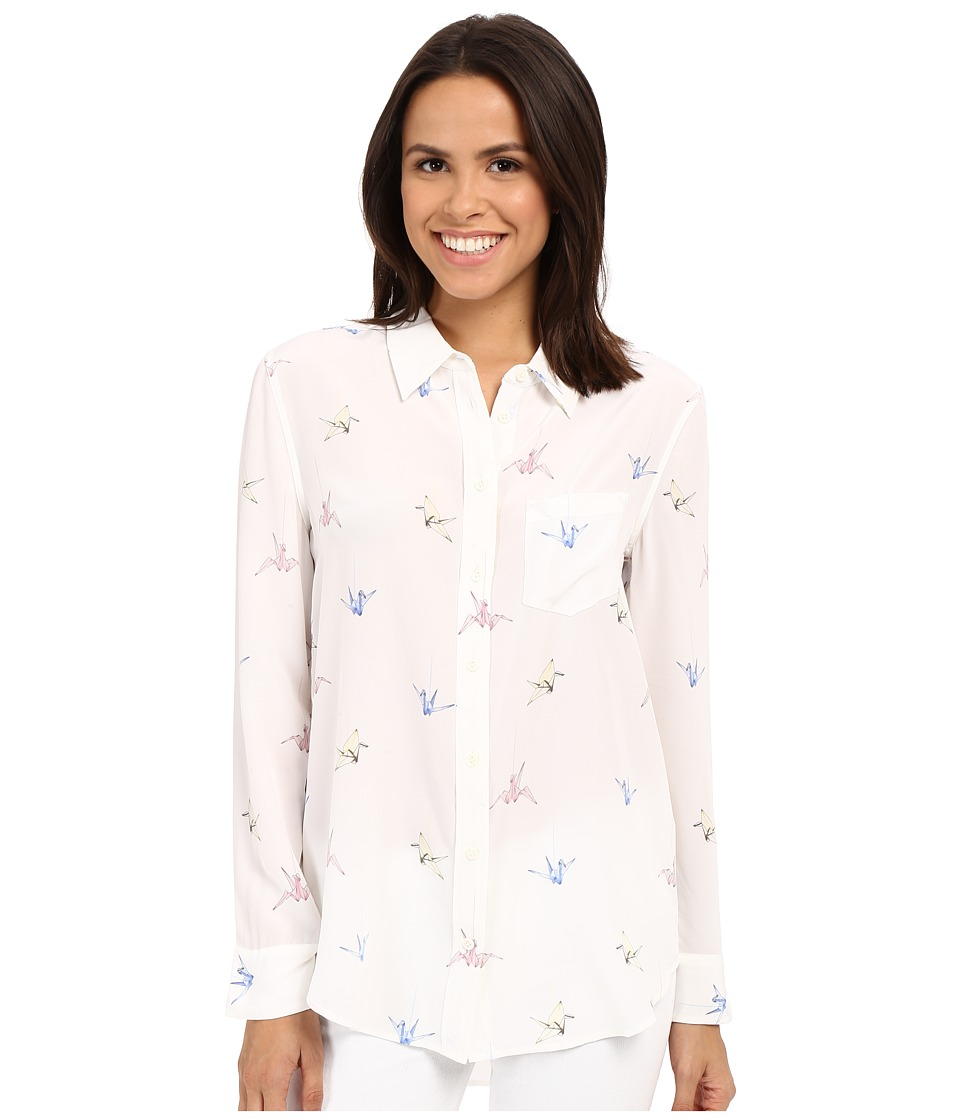 EQUIPMENT - Reece (Bright White Multi) Women's Long Sleeve Button Up