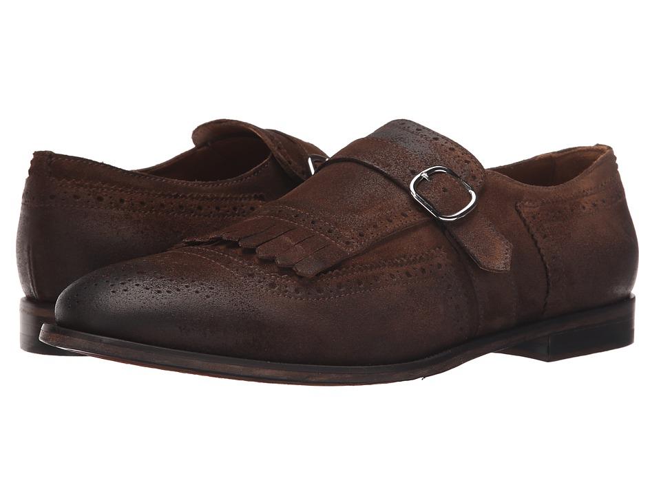 Doucal's - Iacopo 1053UF6E Daime (Cacao) Men's Monkstrap Shoes