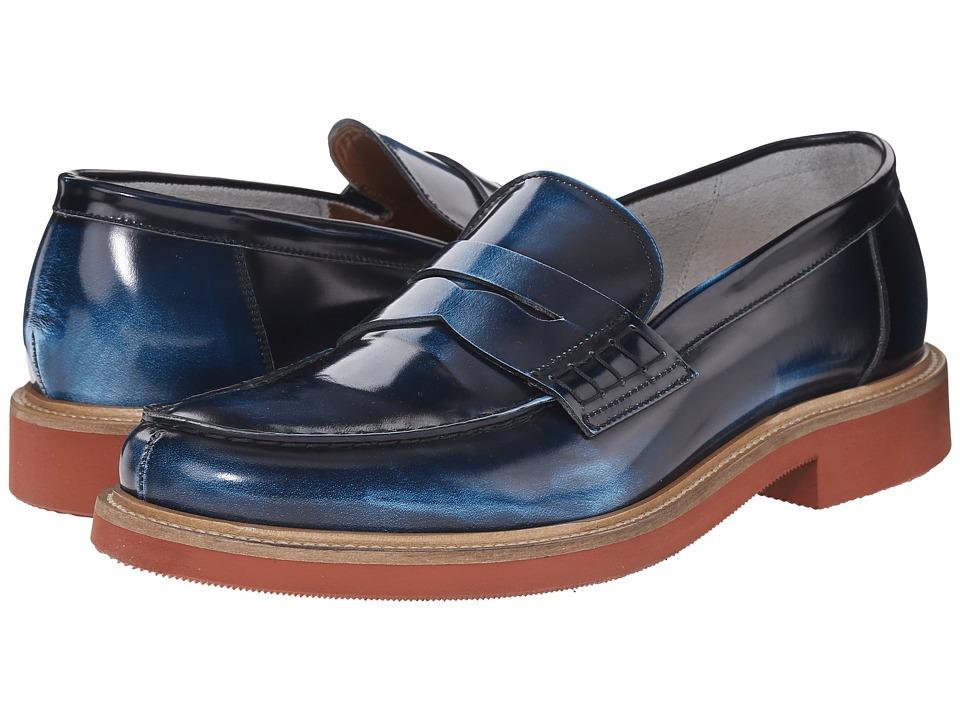 Doucal's - Dante 1006US6E Shade (Blue) Men's Slip on Shoes