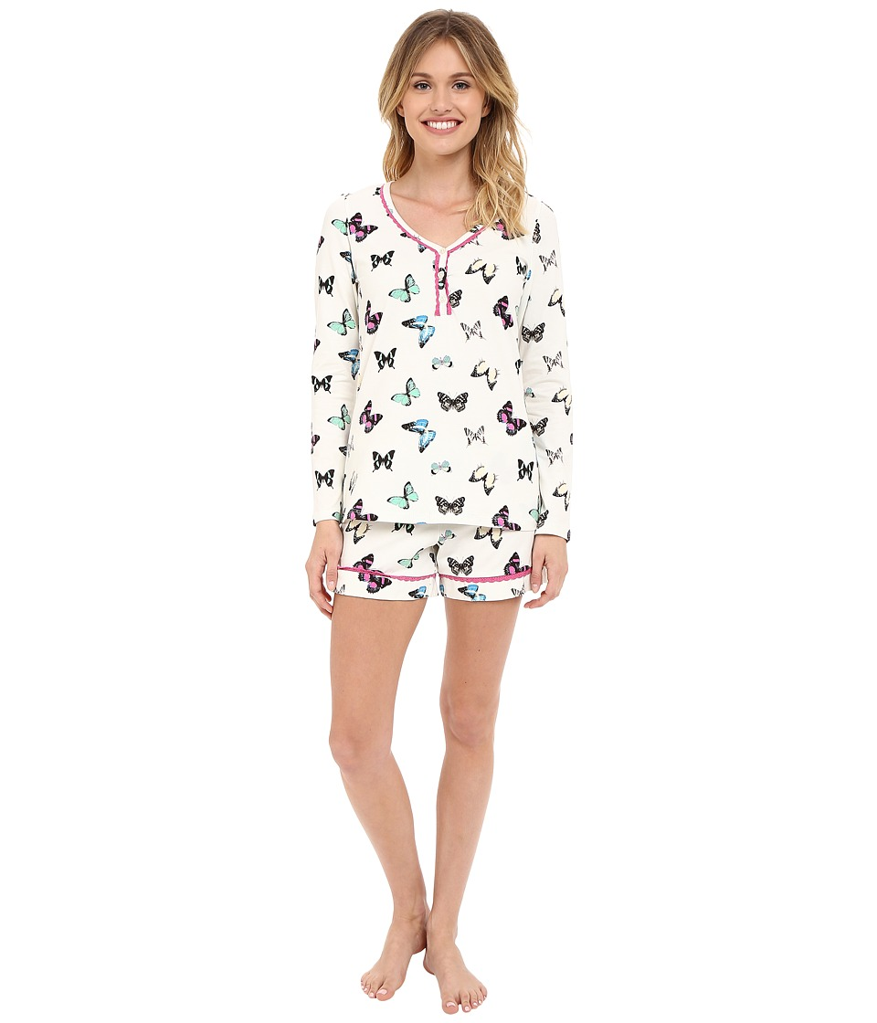BedHead - Long Sleeve Sweetheart Shorts Pajama Set (Wings of Desire) Women's Pajama Sets