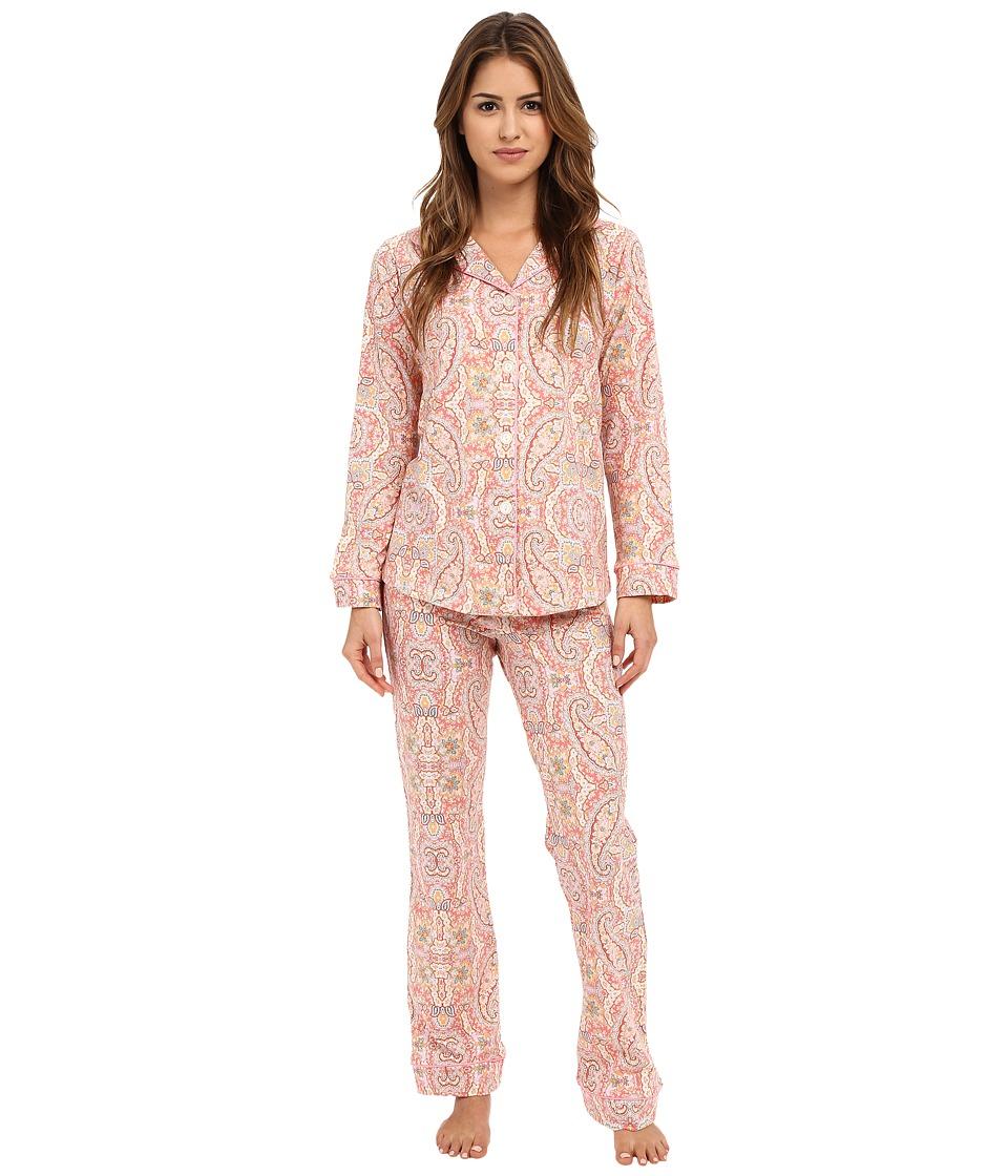 BedHead - Classic Stretch PJ Set (Coral Boho Paisley) Women's Pajama Sets