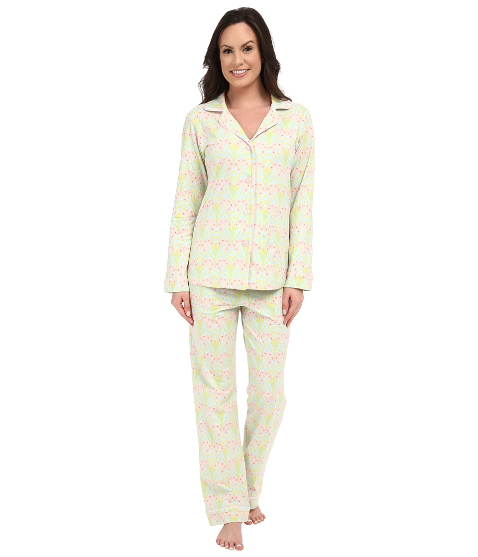 BedHead - Classic Stretch PJ Set (Blue Nouveau) Women's Pajama Sets