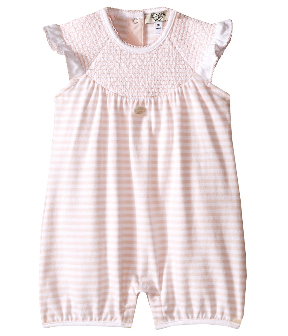 Armani Junior - Stripe One-Piece (Infant) (Multi) Girl's Jumpsuit & Rompers One Piece