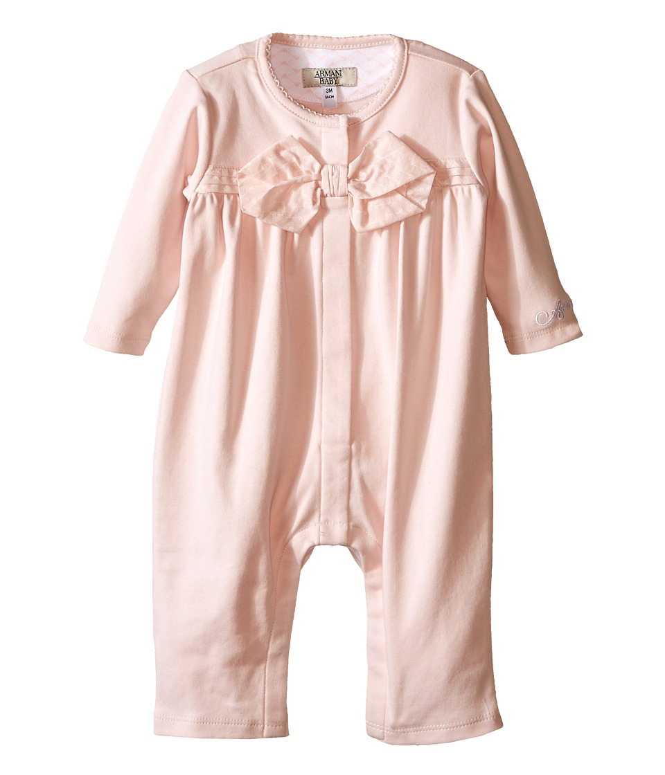 Armani Junior - One-Piece with Bow (Infant) (Orchid) Girl's Jumpsuit & Rompers One Piece