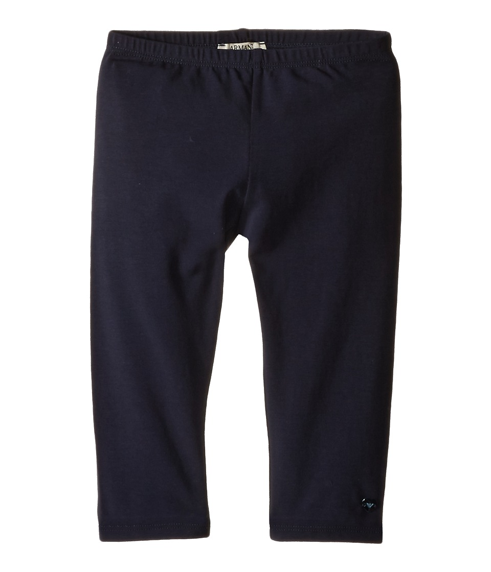Armani Junior - Navy Leggings (Infant) (Solid Dark Green) Girl's Casual Pants