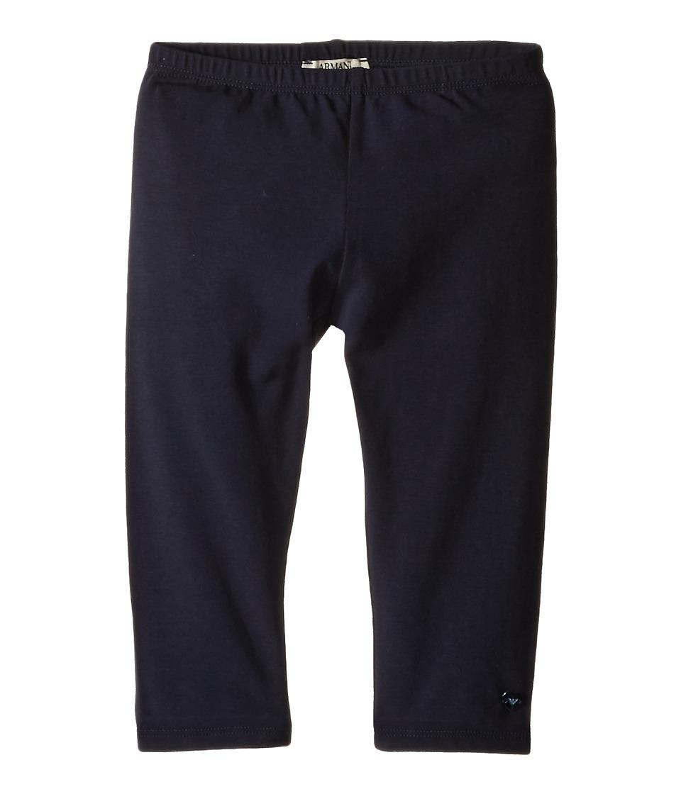Armani Junior - Navy Leggings (Infant) (Solid Dark Green) Girl's Casual Pants