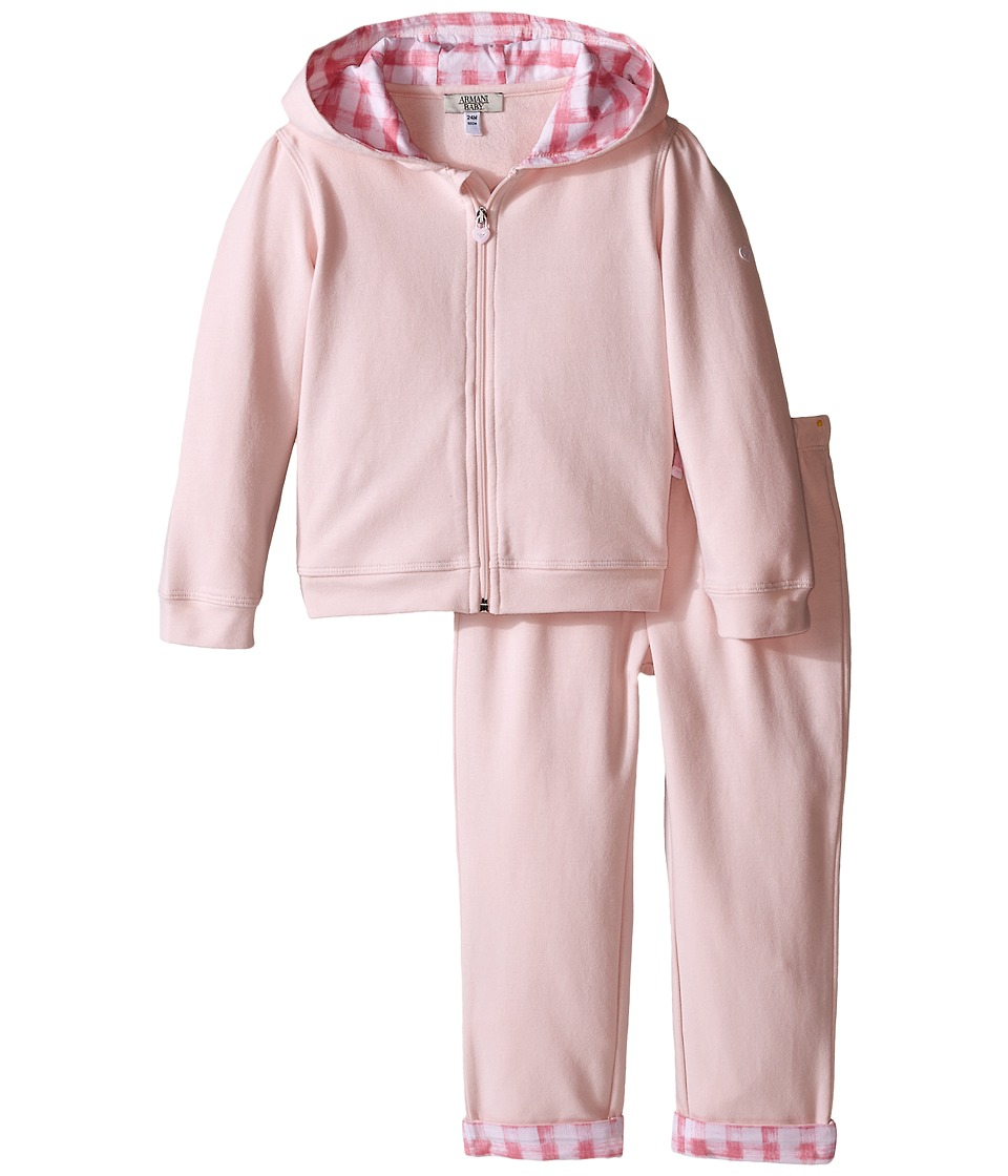 Armani Junior - Sweatsuit with Hood (Infant) (Orchid) Girl's Active Sets