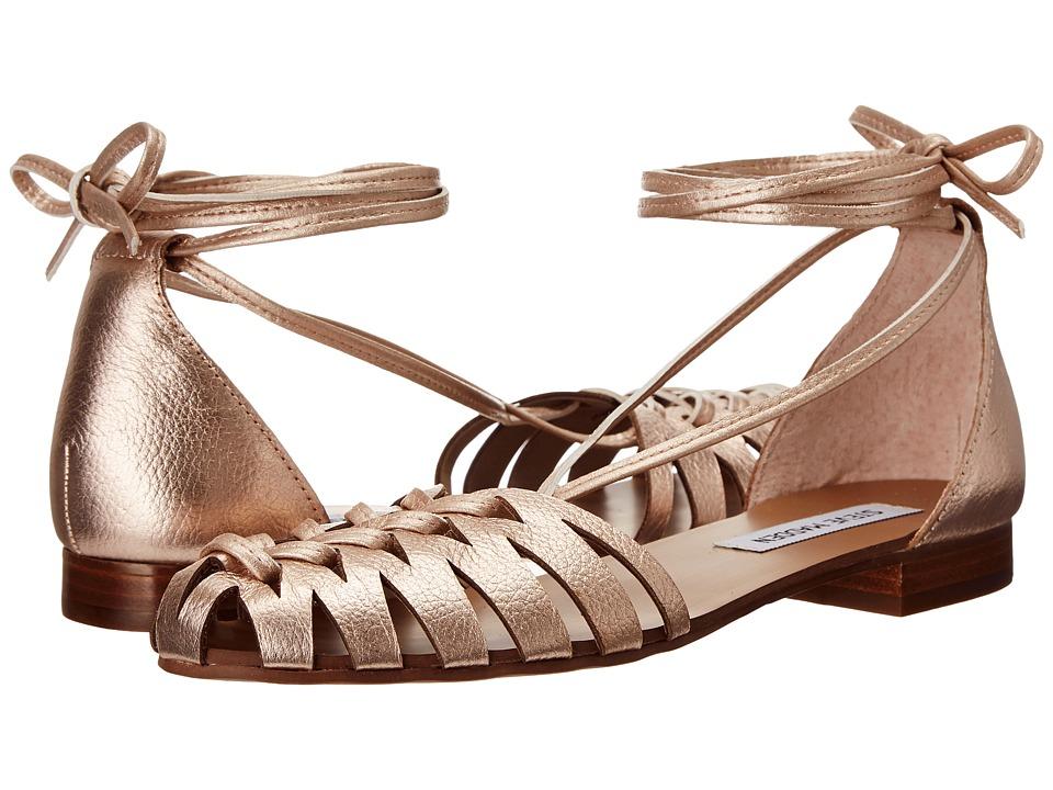 Steve Madden Leaondra Rose Gold Womens Flat Shoes