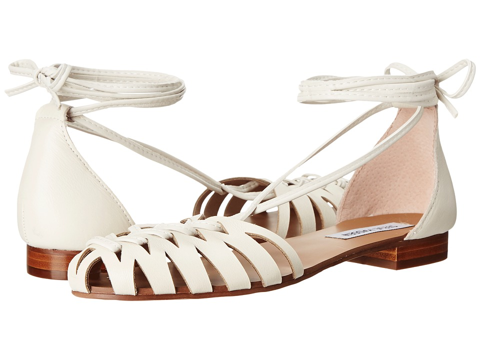 Steve Madden Leaondra (White Leather) Women