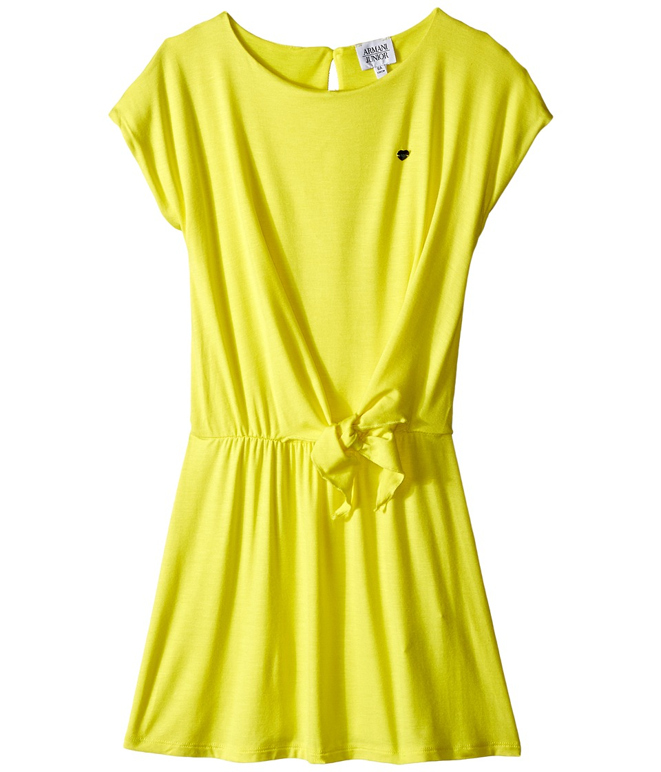 Armani Junior - Dress with Knot (Big Kids) (Sun) Girl's Dress