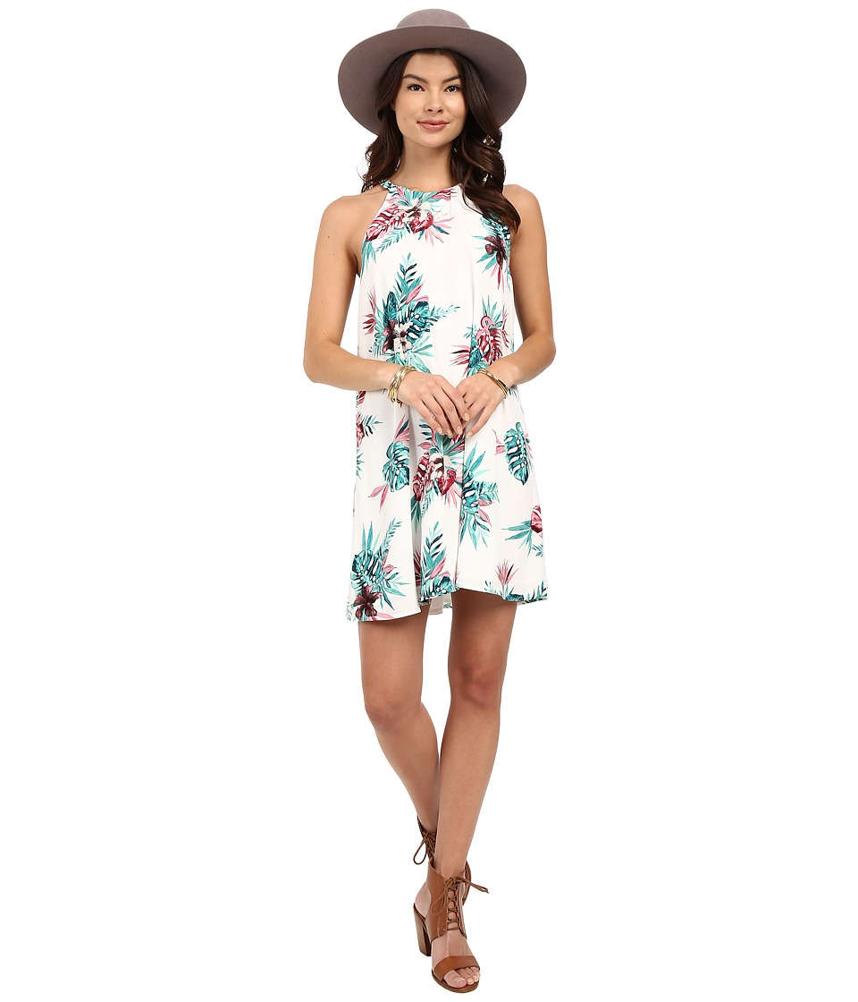 BB Dakota - Harlet Orchid Jungle Hammered Crepe Trapeze Dress (Multi) Women's Dress