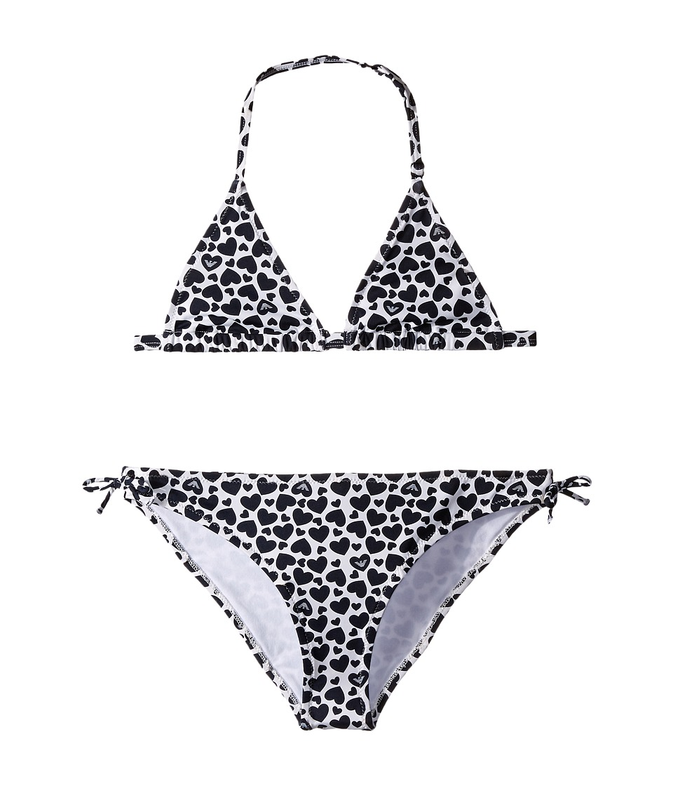 Armani Junior - Swimsuit Set with Navy Hearts (Big Kids) (Open Misc) Girl's Swimsuits One Piece