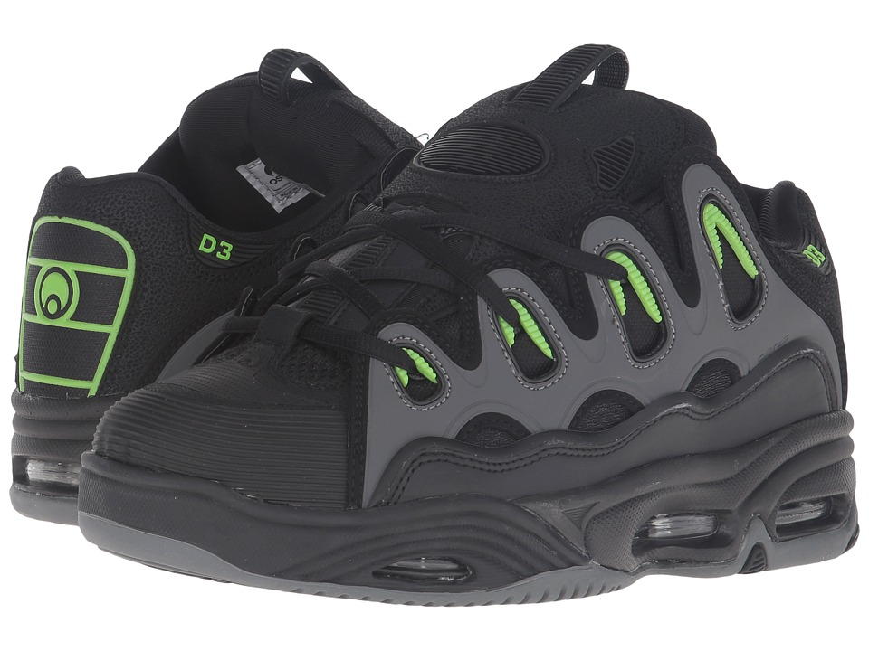 Osiris - D3 2001 (Black/Green/Charcoal) Men's Skate Shoes