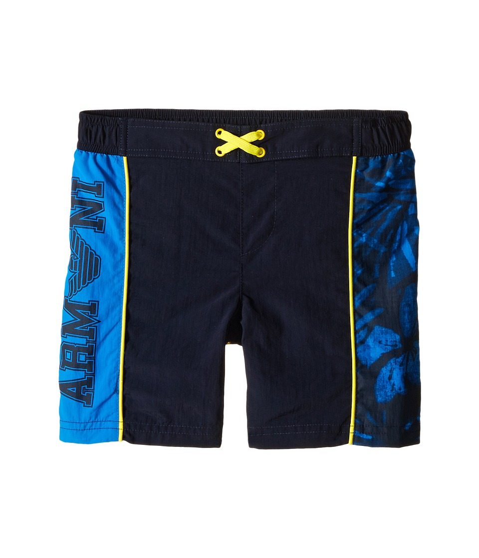 Armani Junior - Swimsuit with Side Logo (Big Kids) (Dodger Blue) Boy's Shorts