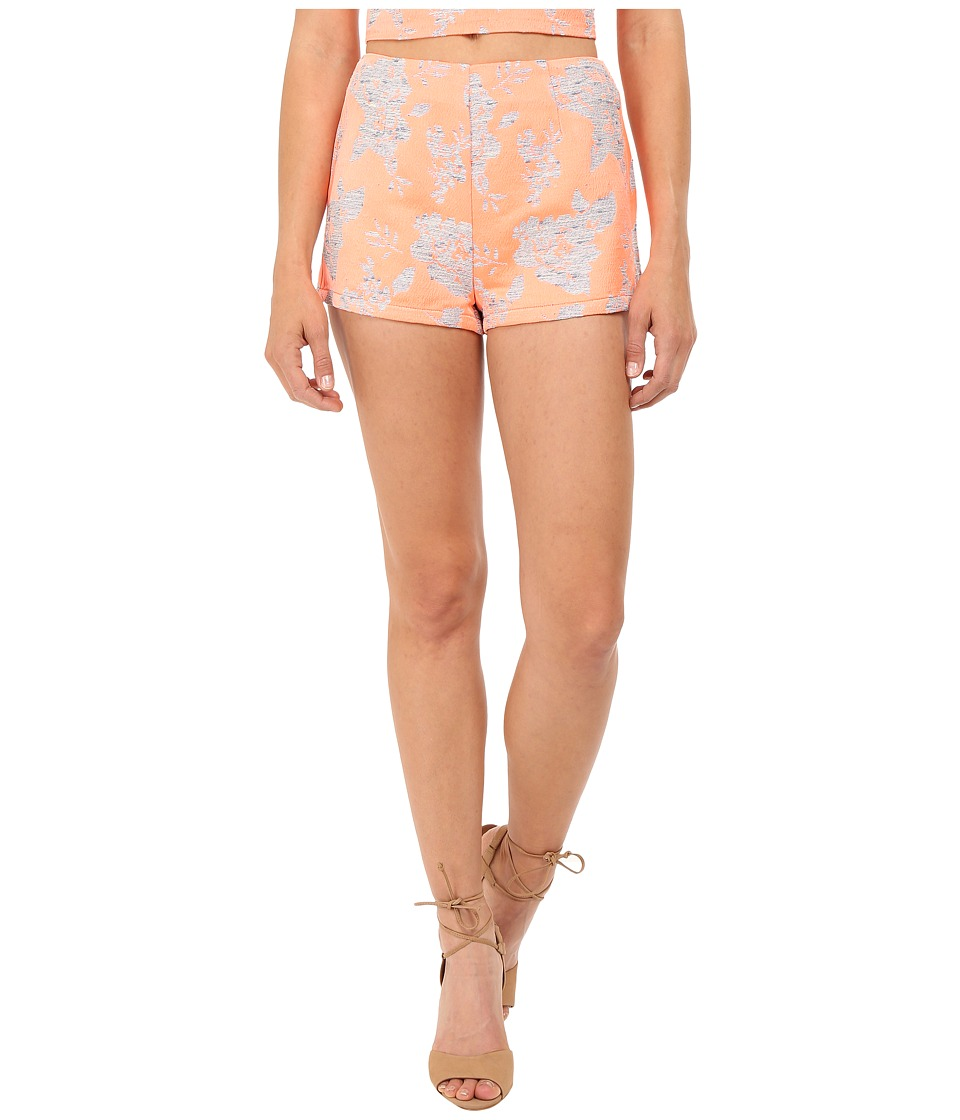 BB Dakota - Thea Floral Jacquard Shorts (Creamsicle) Women's Shorts