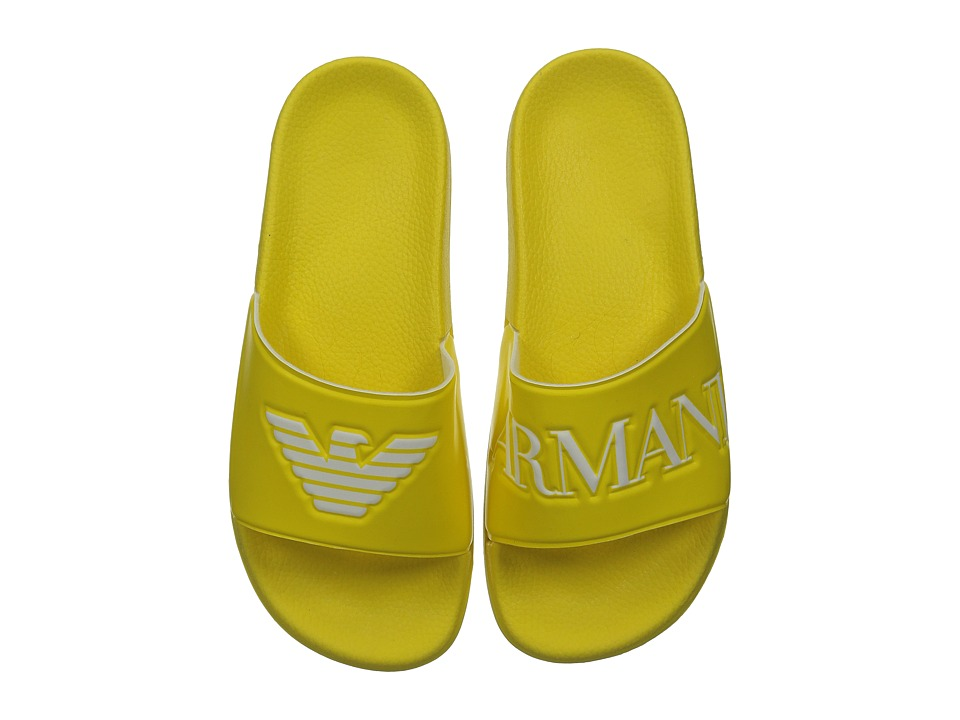 Armani Junior - Slip-On Sandal with Logo (Little Kid/Big Kid) (Sun) Boys Shoes