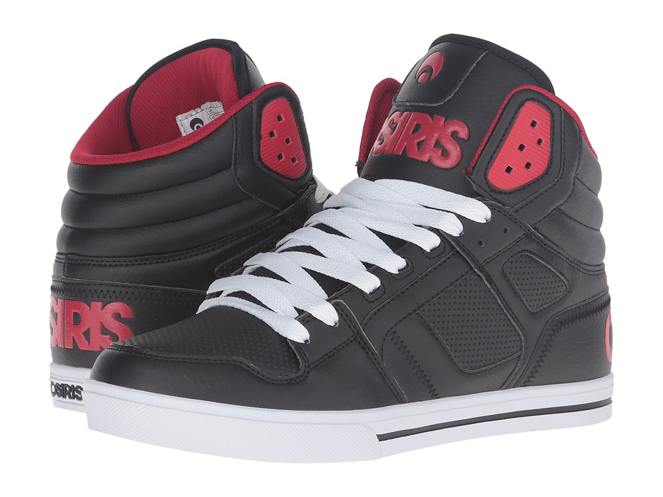 Osiris - Clone (Black/Red/Red) Men's Skate Shoes