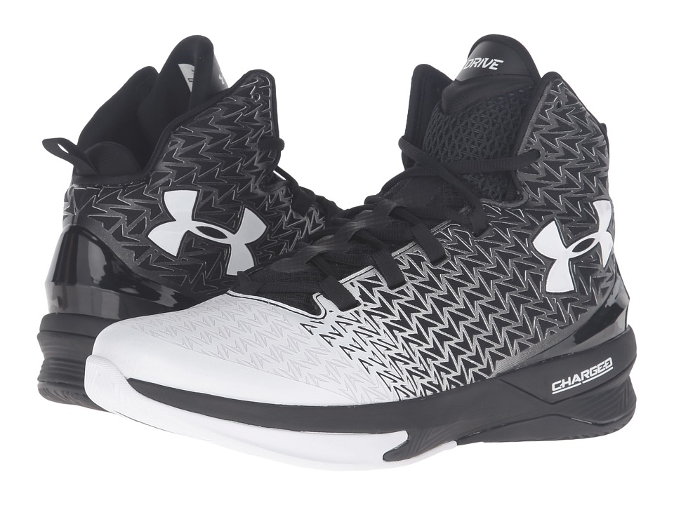 Under Armour - UA Clutchfit Drive 3 (Black/White/White) Men's Basketball Shoes