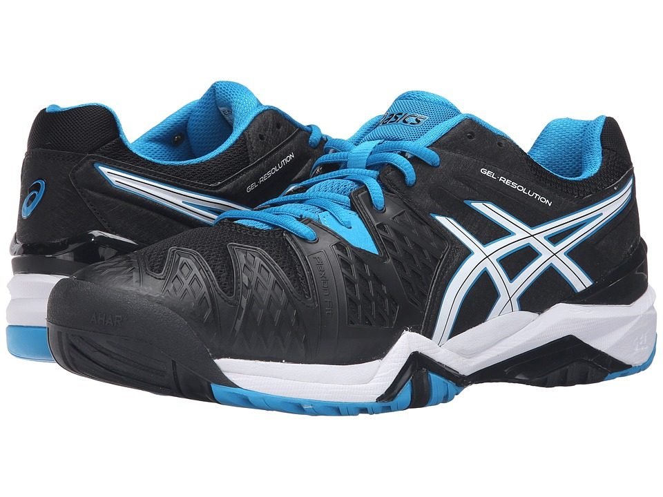 ASICS - GEL-Resolution 6 (Black/Blue Jewel/White) Men's Shoes
