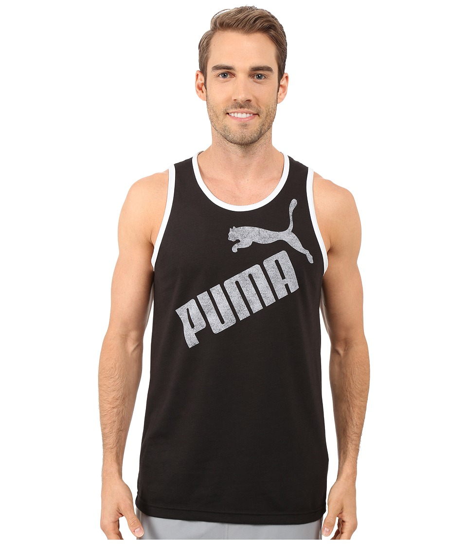 PUMA - #1 Tank (Black/White) Men's Sleeveless