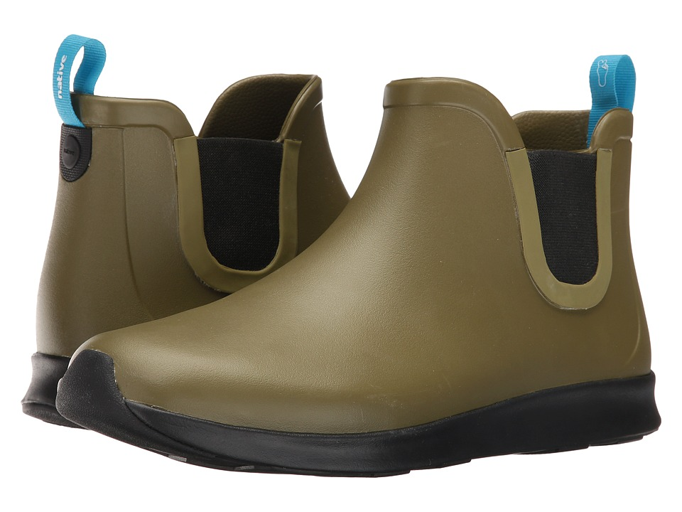 Native Shoes Apollo Rain (Rookie Green/Jiffy Black/Jiffy Rubber) Rain Boots