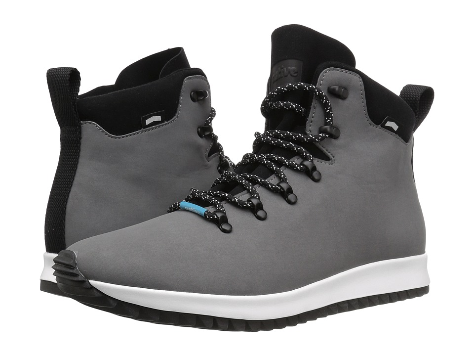 Native Shoes - Apollo Apex (Dublin Grey/Shell White/Jiffy Black Rubber) Lace-up Boots