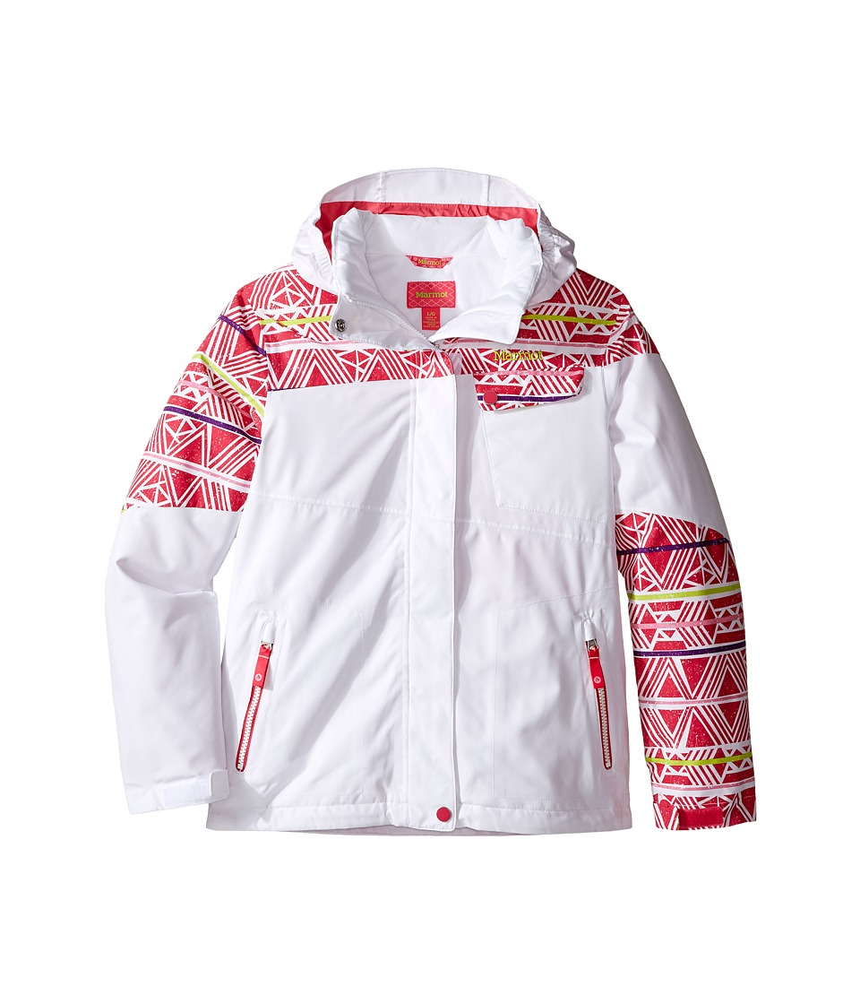 Marmot Kids - Girl's Moonstruck Jacket (Little Kids/Big Kids) (White/Pink Rock Fusion) Girl's Coat