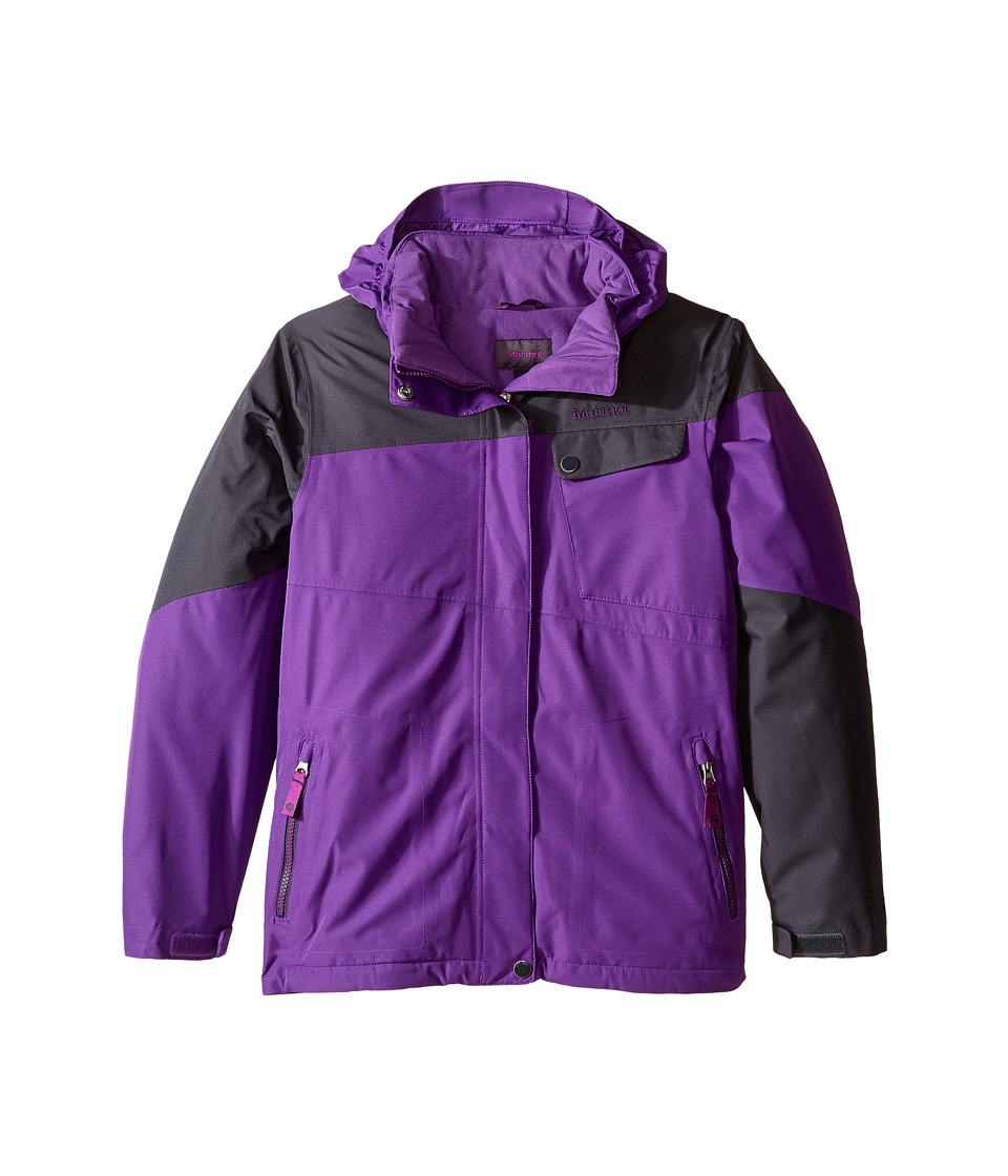 Marmot Kids - Girl's Moonstruck Jacket (Little Kids/Big Kids) (Mystic Purple/Dark Steel) Girl's Coat