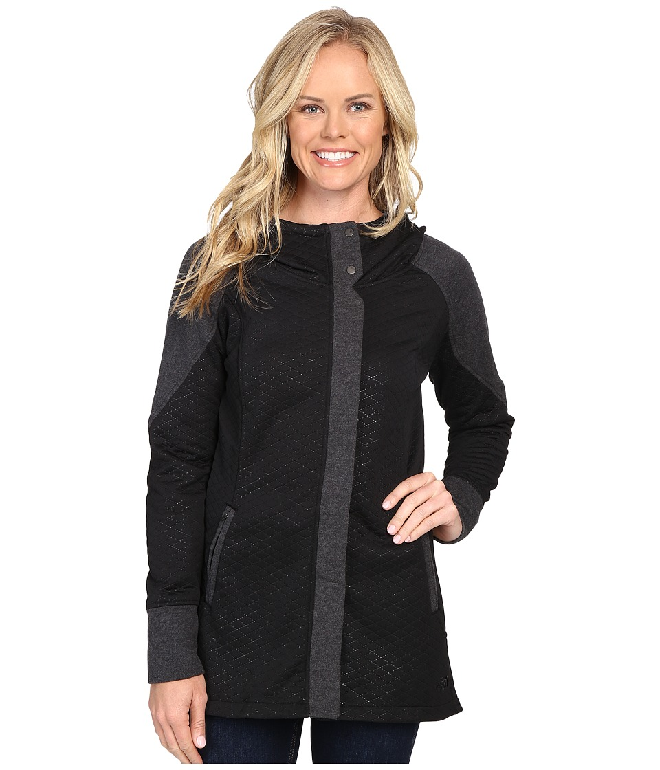 The North Face - Recover-Up Jacket (TNF Black/TNF Dark Grey Heather) Women's Coat