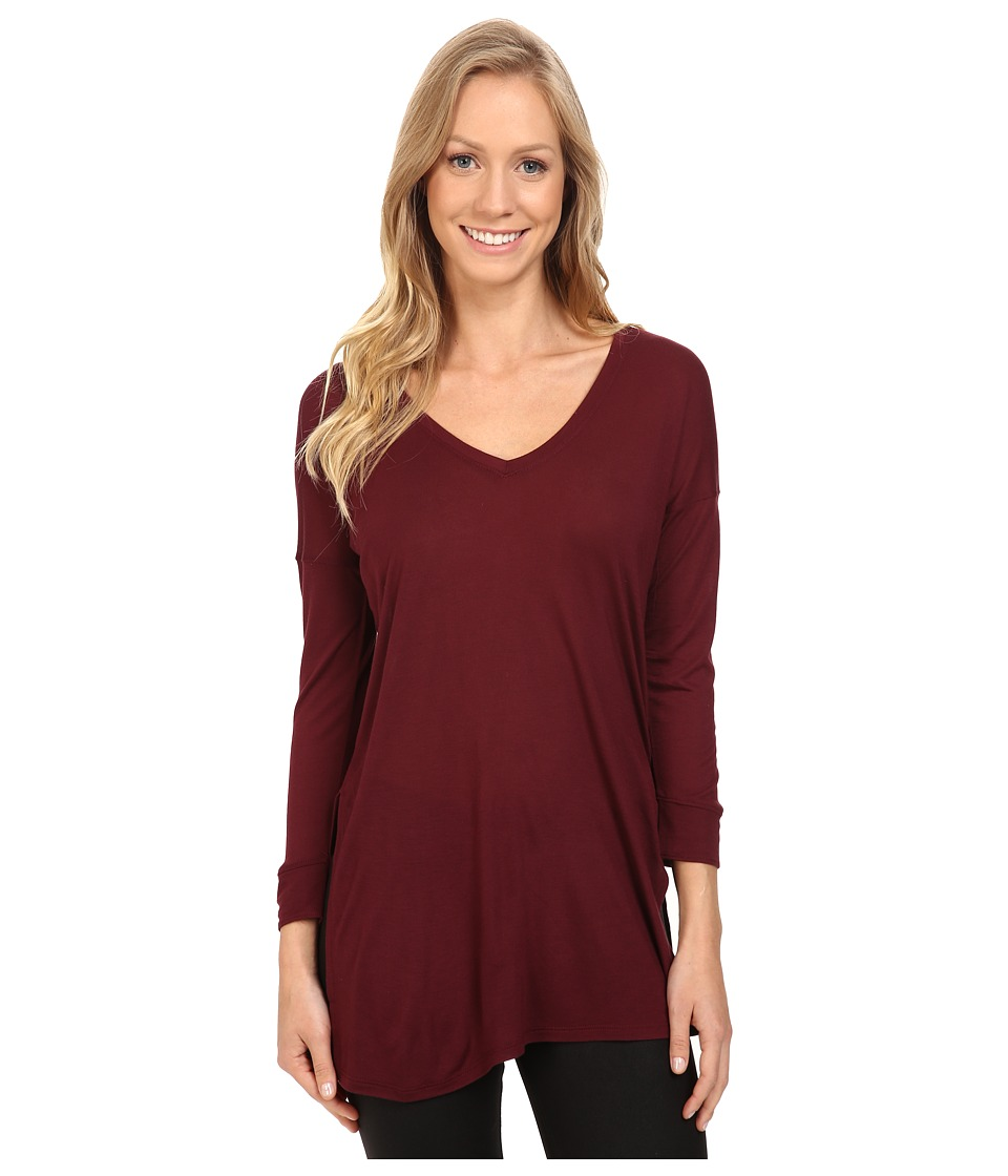 The North Face - Nueva 3/4 Tunic (Deep Garnet Red) Women's Long Sleeve Pullover