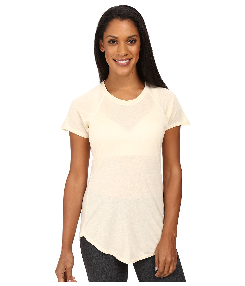 The North Face Nueva Short Sleeve Top (Moonlight Ivory Heather) Women