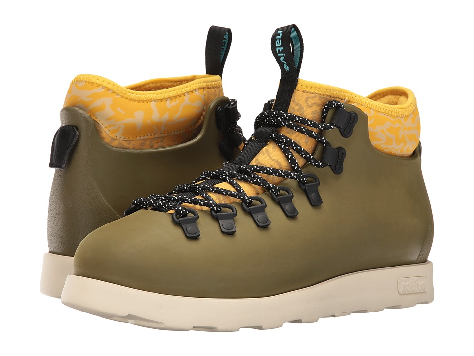 Native Shoes - Fitzsimmons (Rookie Green/Honey Yellow/Bone White/Anthill Camo) Shoes