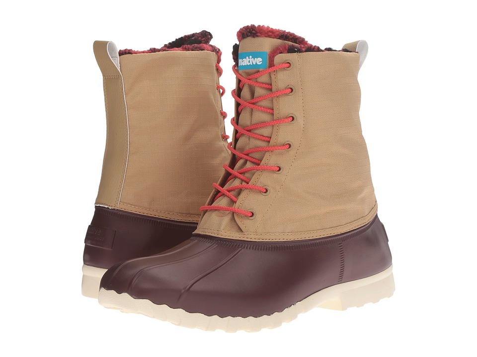Native Shoes Jimmy Winter (Crater Brown/Tomb Brown/Red Plaid) Shoes