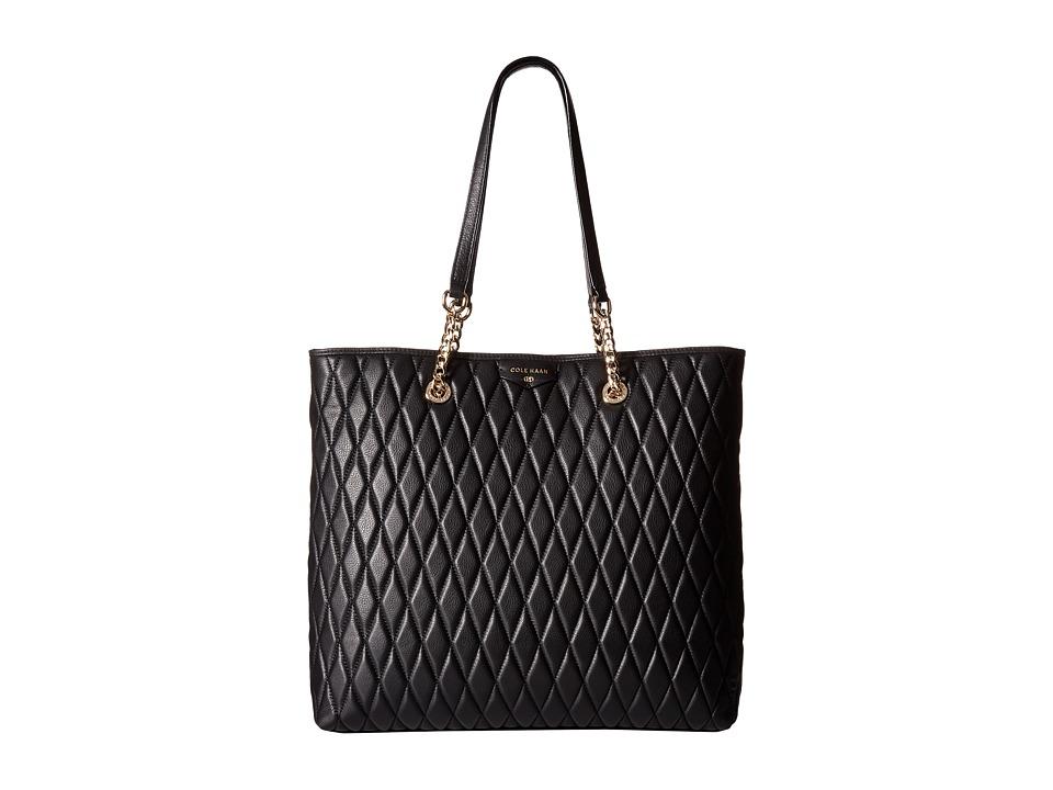 Cole Haan - Simone North/South Tote (Black) Tote Handbags
