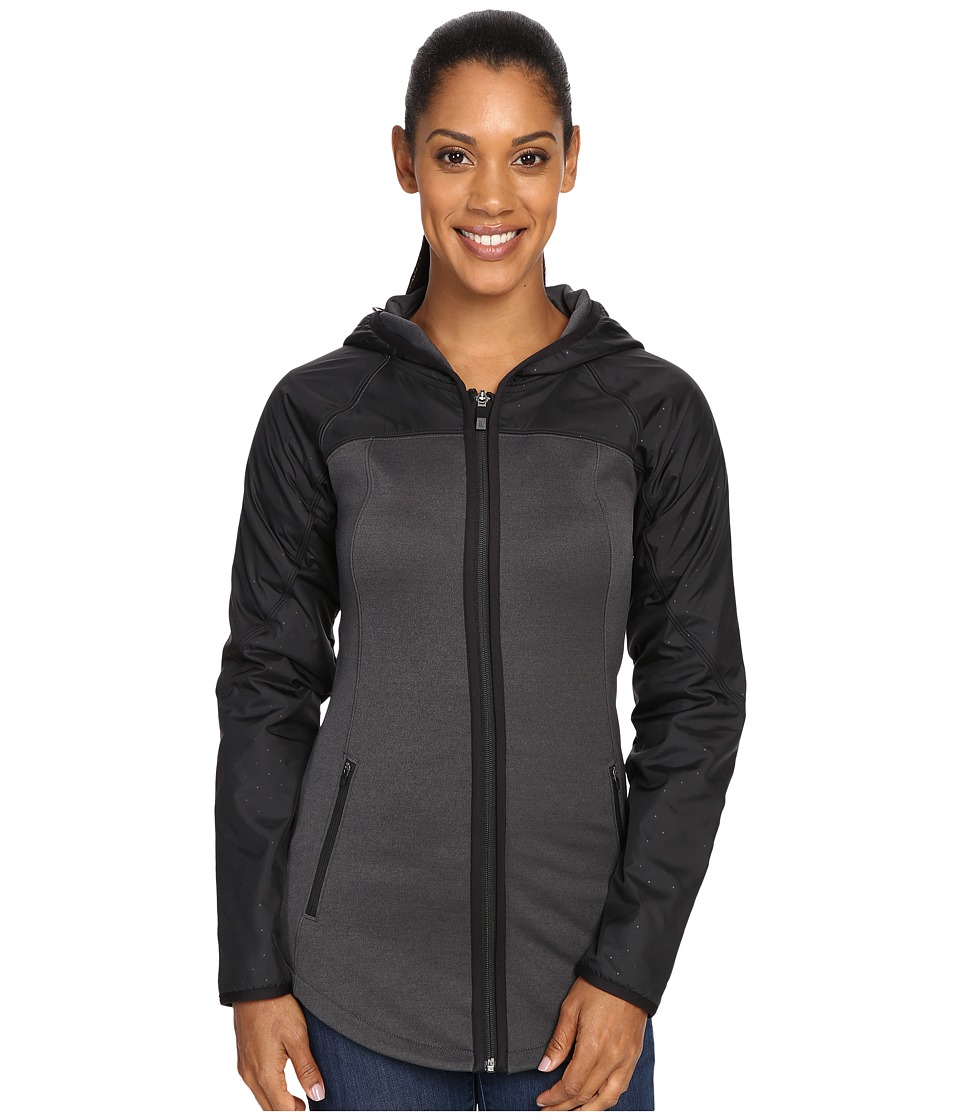 The North Face - Spark Full Zip Hoodie (TNF Dark Grey Heather/TNF Black) Women's Coat