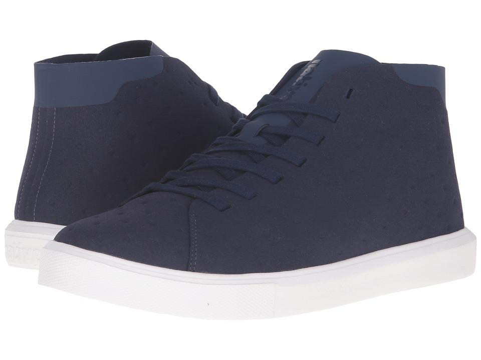 Native Shoes Monaco Mid (Regatta Blue/Shell White) Lace up casual Shoes