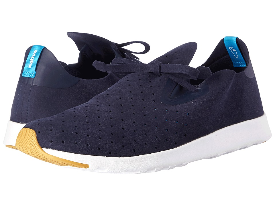 Native Shoes - Apollo Moc (Regatta Blue/Shell White/Natural Rubber) Shoes