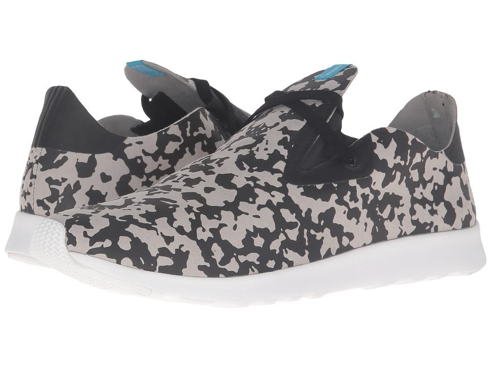 Native Shoes - Apollo Moc (Pigeon Grey/Jiffy Black/Shell White/Blot Camo) Shoes