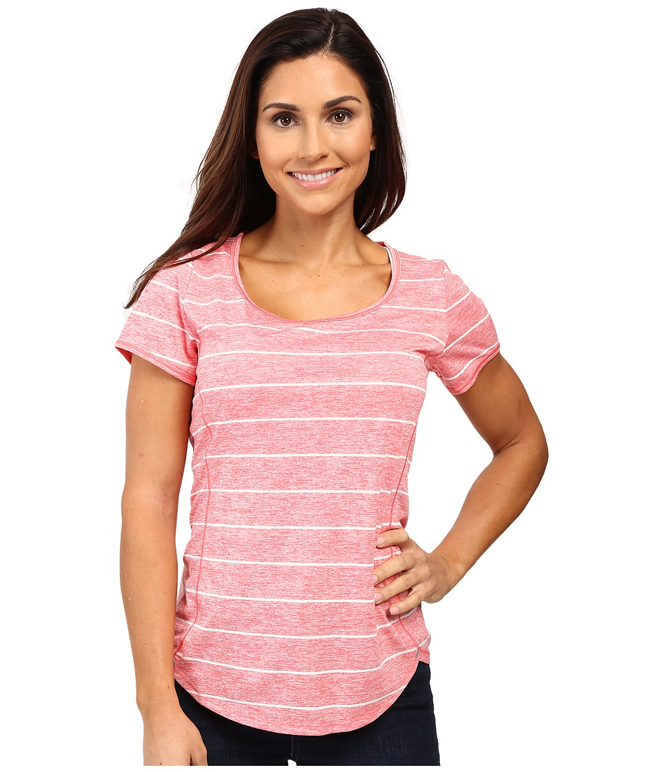 The North Face - Ma-X Short Sleeve Top (Calypso Coral Heather) Women's Short Sleeve Pullover