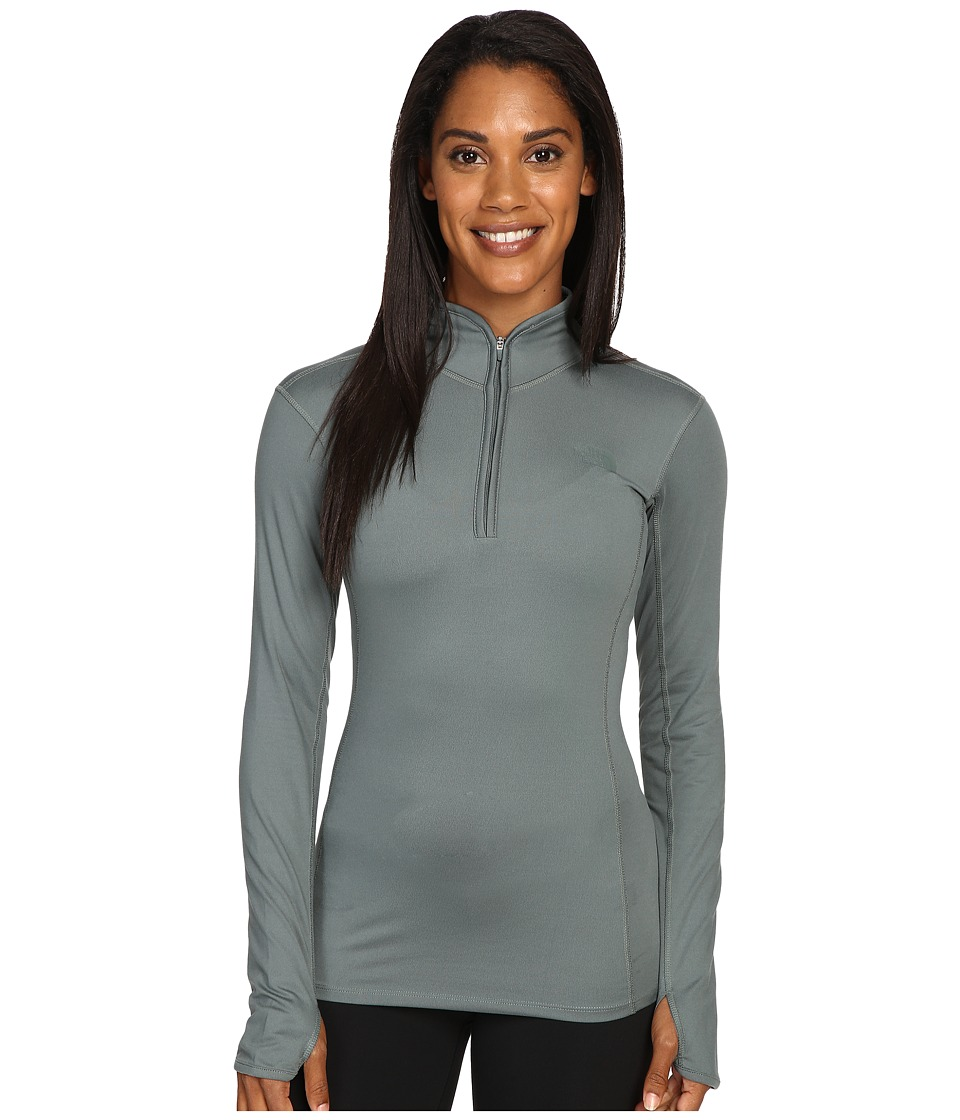 The North Face - Motivation 1/4 Zip Pullover (Balsam Green) Women's Long Sleeve Pullover