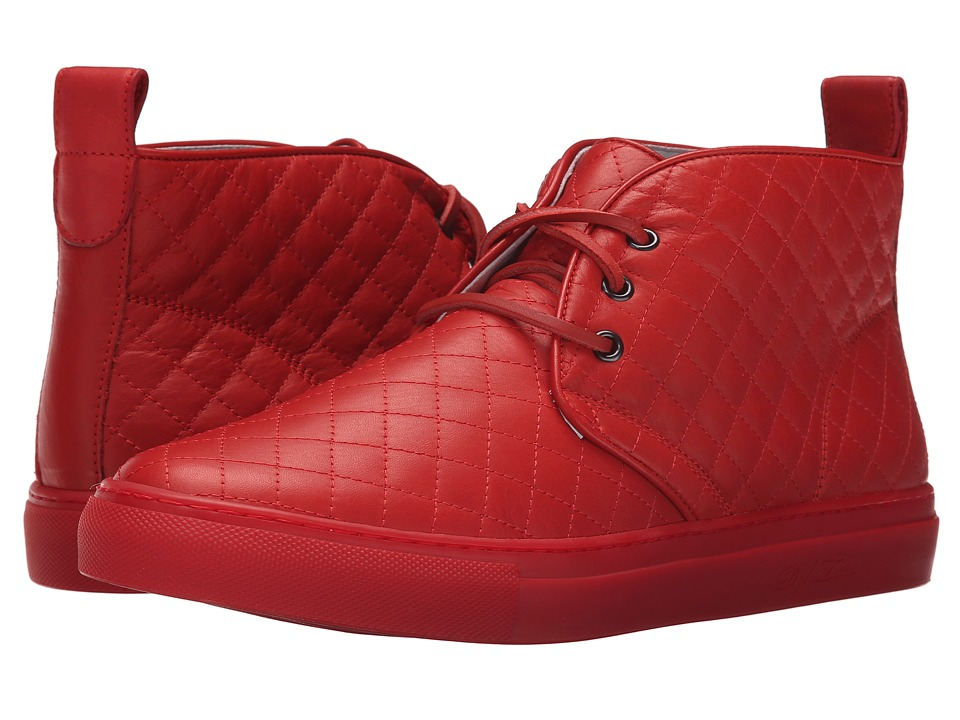Del Toro - High Top Chukka Sneaker (Red Quilted) Men's Shoes