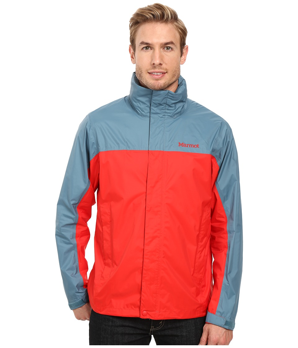 Marmot - PreCip Jacket (Rocket Red/Moon River) Men's Jacket