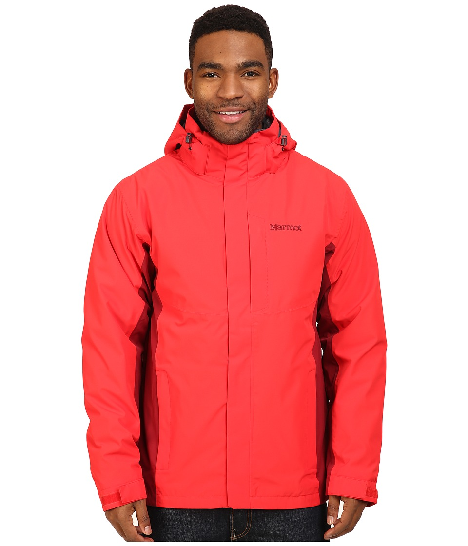 Marmot - Castleton Component Jacket (Rocket Red/Brick) Men's Coat