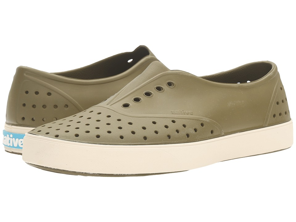 Native Shoes - Miller (Rookie Green/Bone White) Slip on Shoes