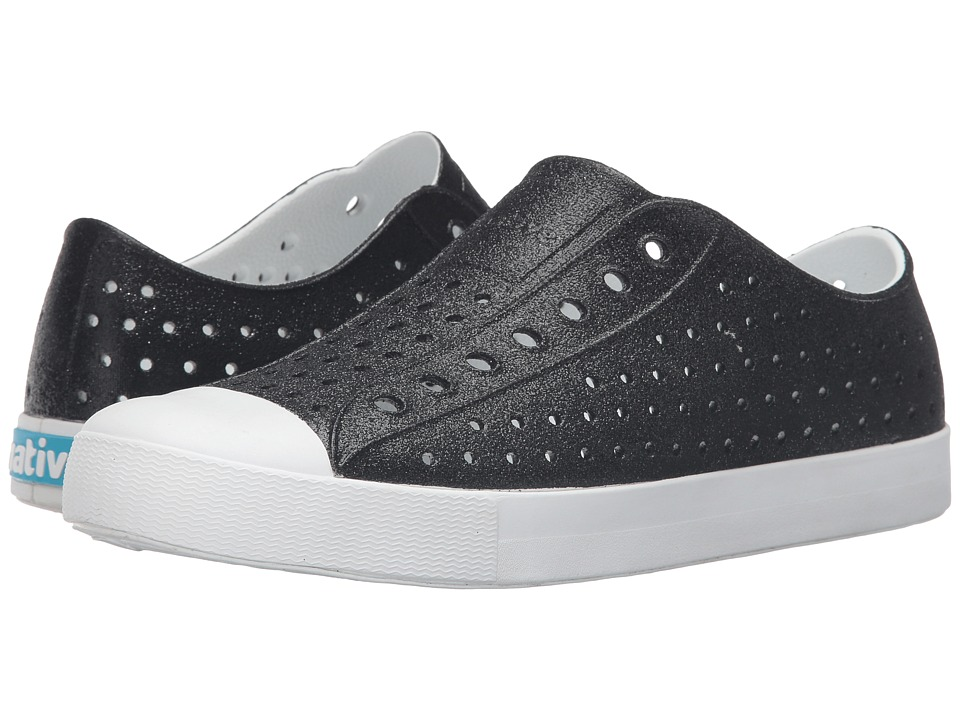 Native Shoes - Jefferson Bling (Black Bling/Shell White) Slip on Shoes